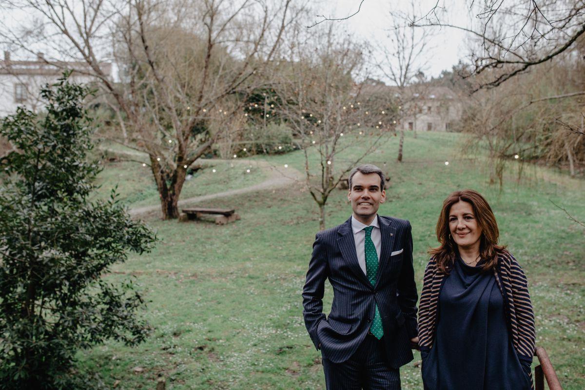 Daniele y Luisa en los terrenos de la Quinta. Foto: Nuria Sambade