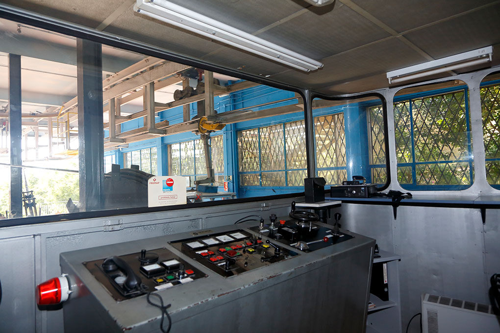 Sala de mandos del Teleférico