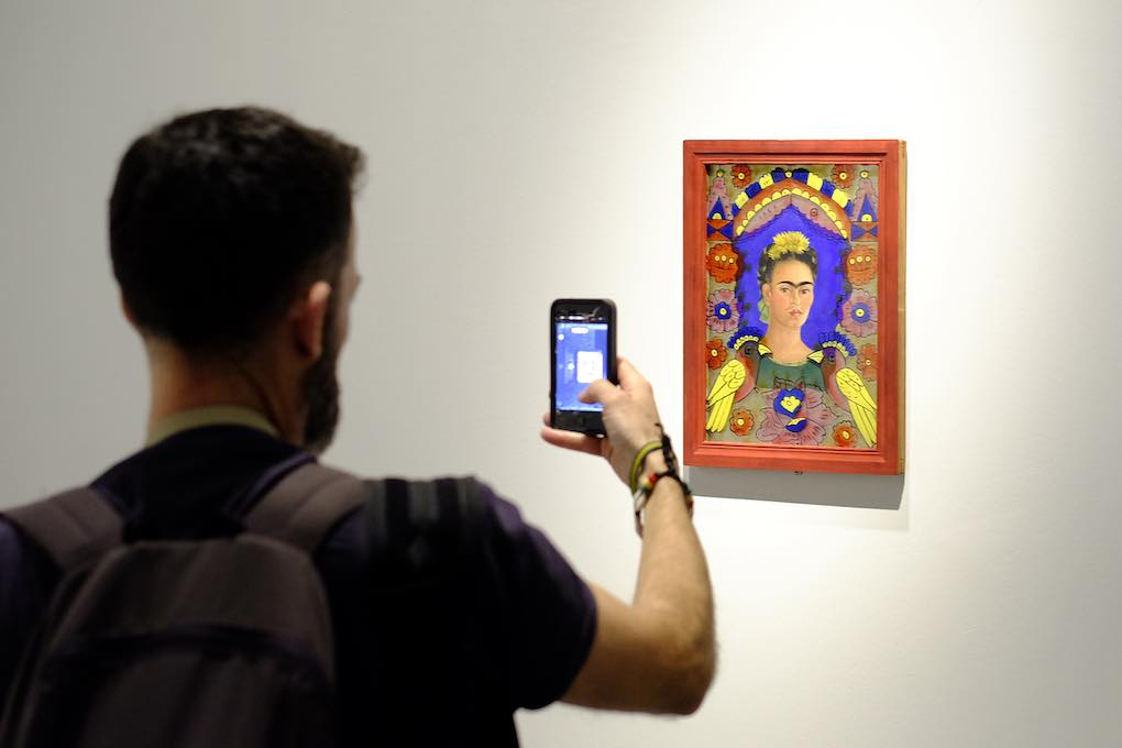 Una obra de Frida Kahlo en el Centre Pompidou Málaga.