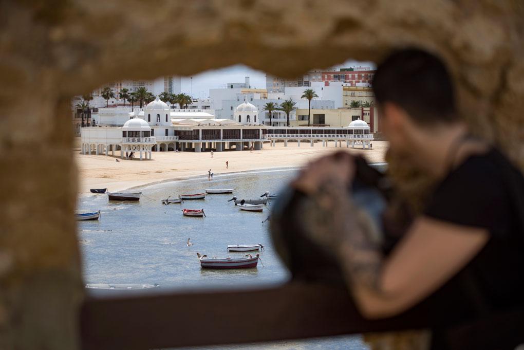 Foto tomada desde el Castillo de Santa Catalina, Cádiz
