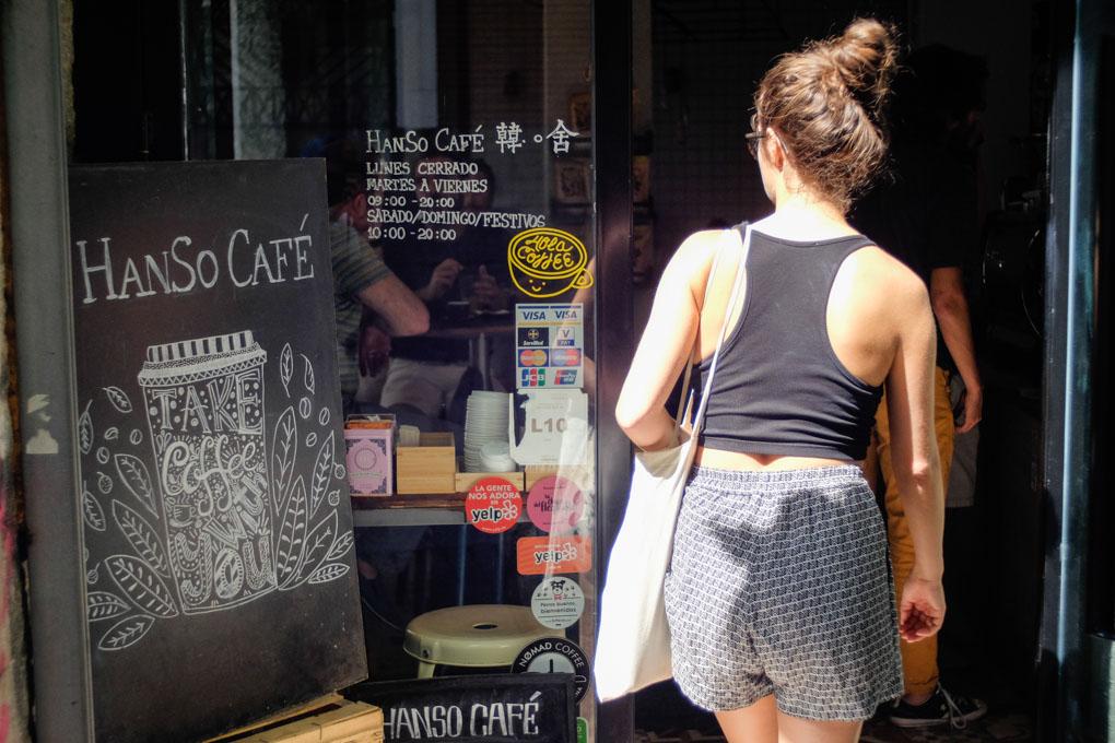 Hanso Café, entrada
