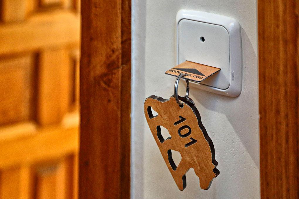 Hotel del Oso, llave
