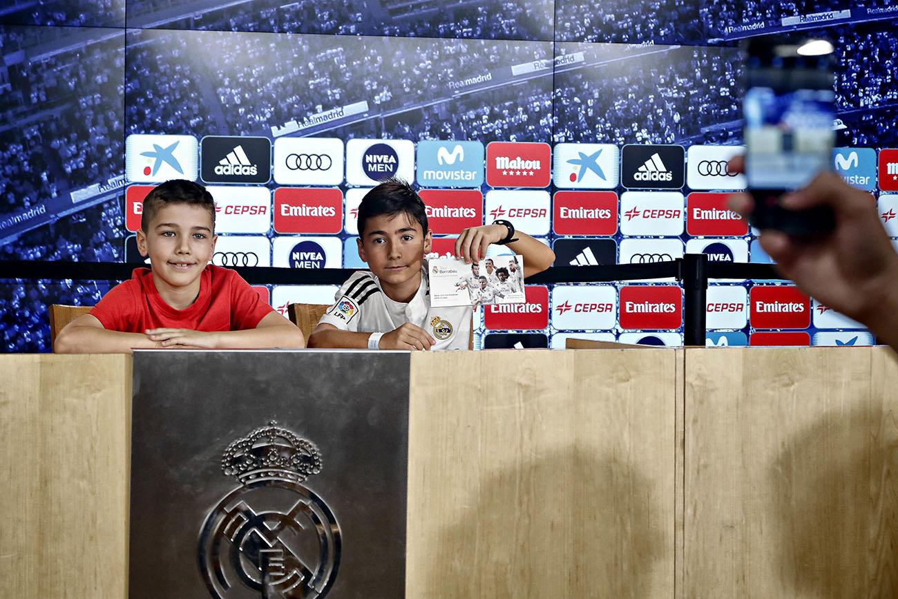 Tour Bernabéu (Real Madrid) - Sala de prensa. Foto: Roberto Ranero.