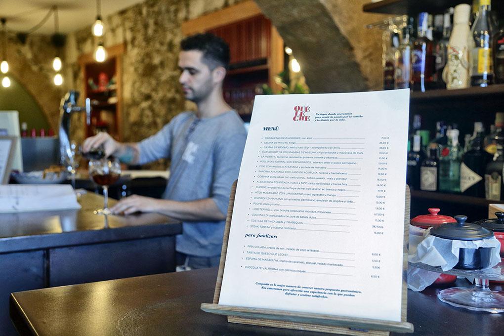 Restaurante Qué Leche (Las Palmas de GC) - carta. Foto: Roberto Ranero
