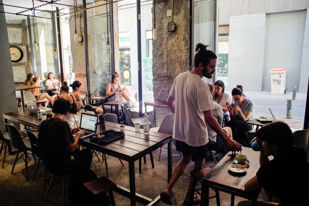 Hanso Café, salón