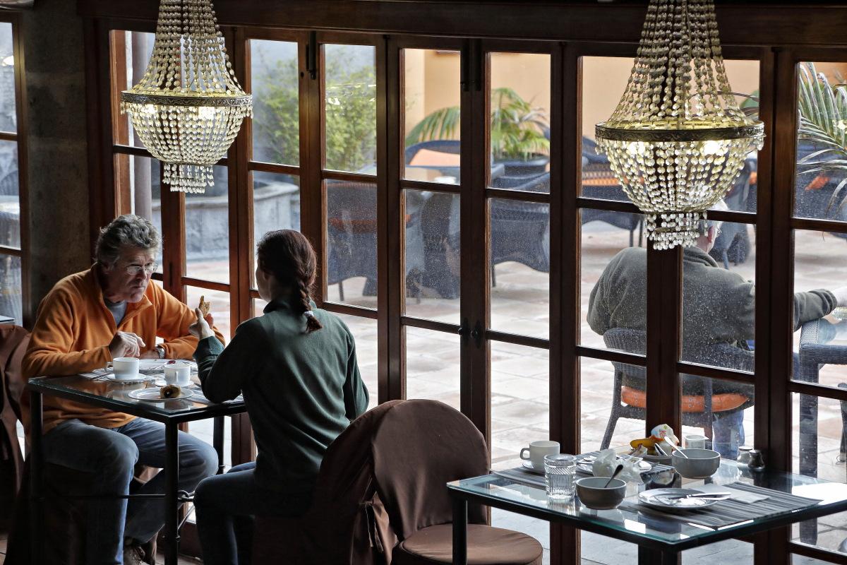 Hacienda El Buen Suceso (Gran Canaria) restaurante. Foto: Roberto Ranero