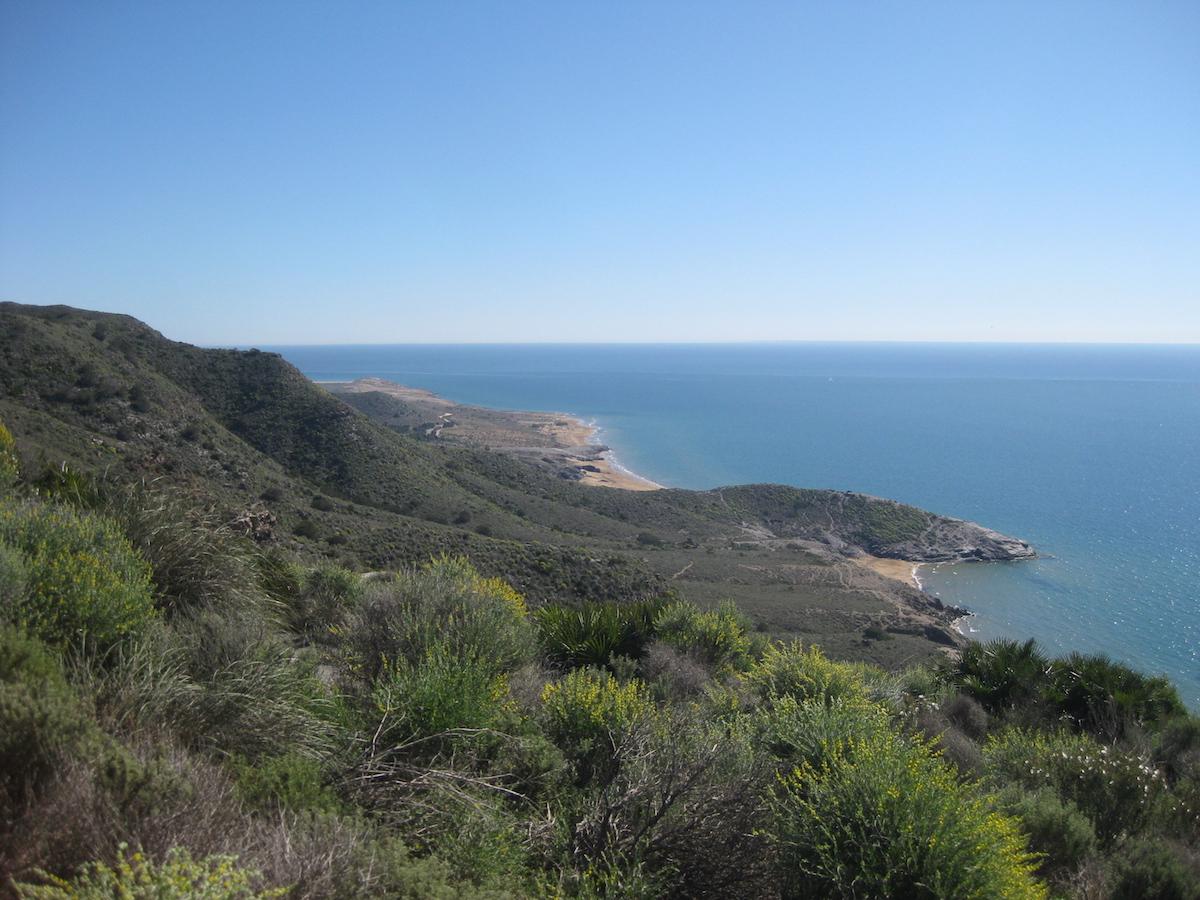 Vista de las playas Parreño y Negrete del parque regional. Foto: Turismo de Murcia
