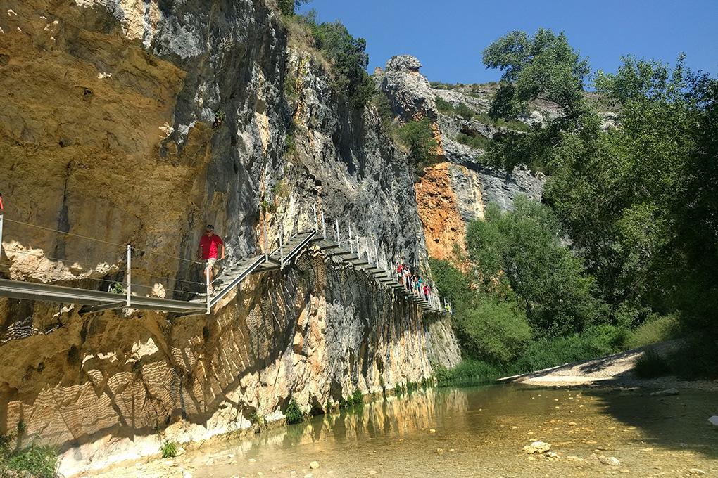 Pasarelas de Alquézar, Aragón