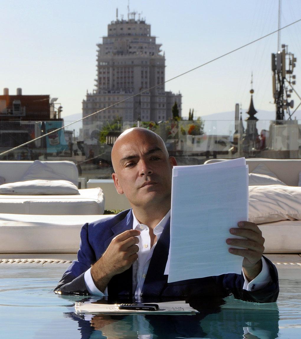 Kike Sarasola en uno de sus hoteles de Madrid. Foto: Room Mate