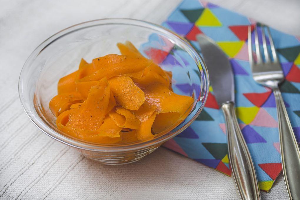 Ensalada de zanahoria servida. Foto: David de Luis