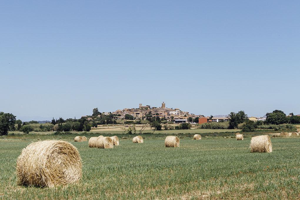 Pals (Bajo Ampurdán, Baix Empordà) - panorámica desde fuera (1) - Foto: César Cid