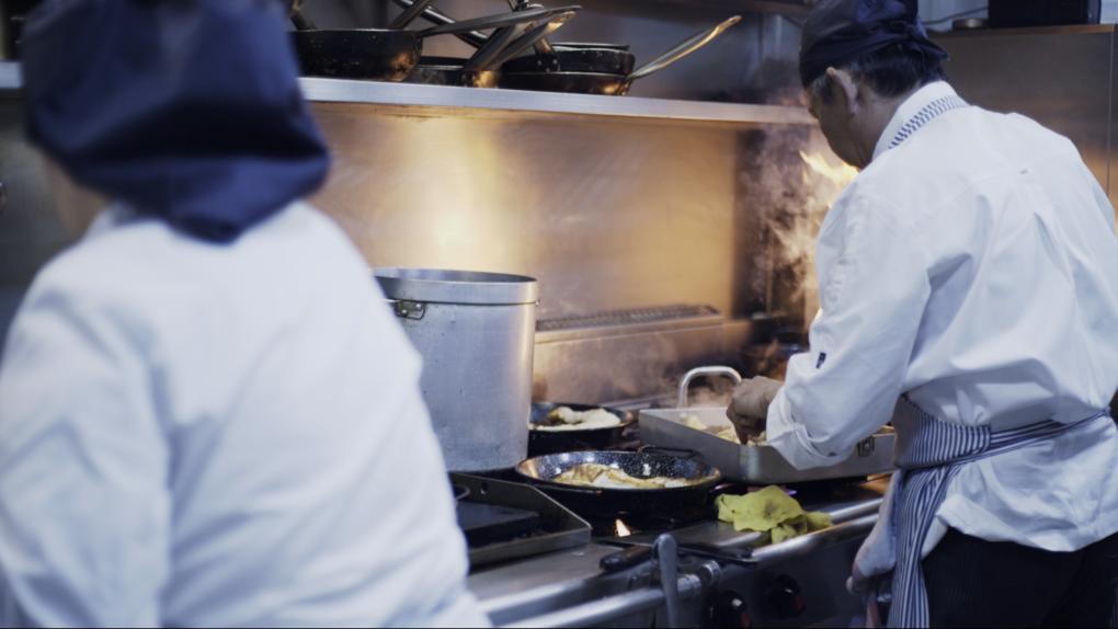 Los cocineros del restaurante Balmes
