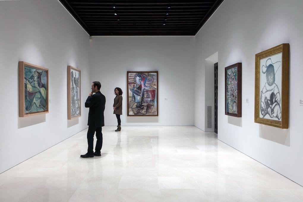 Salas del Museo Picasso Málaga.