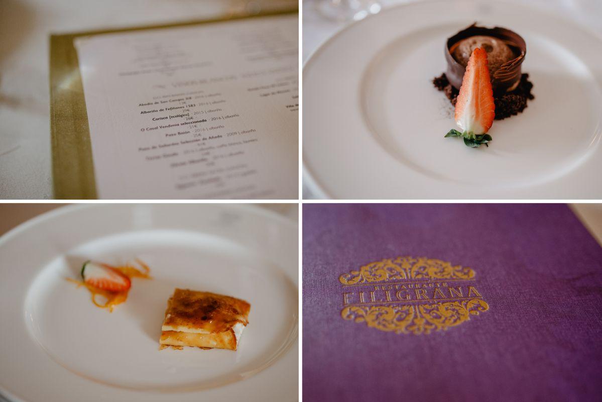 Los postres del restaurante A Quinta da Auga. Foto: