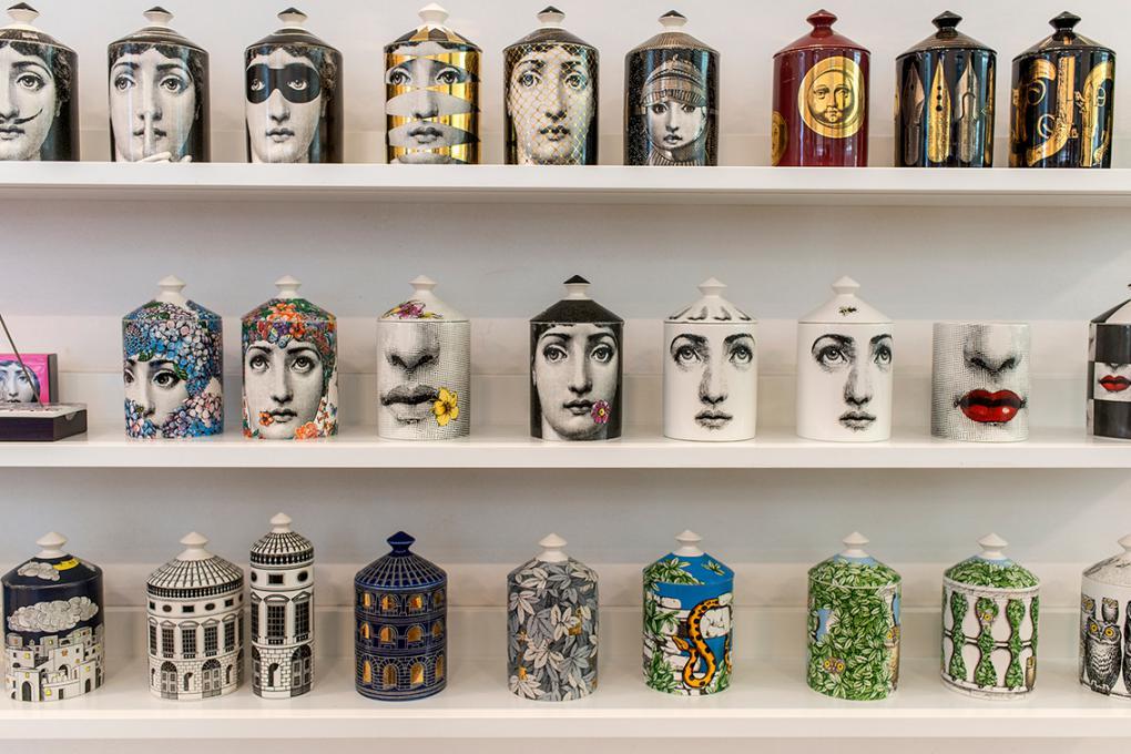 La exclusividad es marca de la casa, como esta increíble colección de velas.