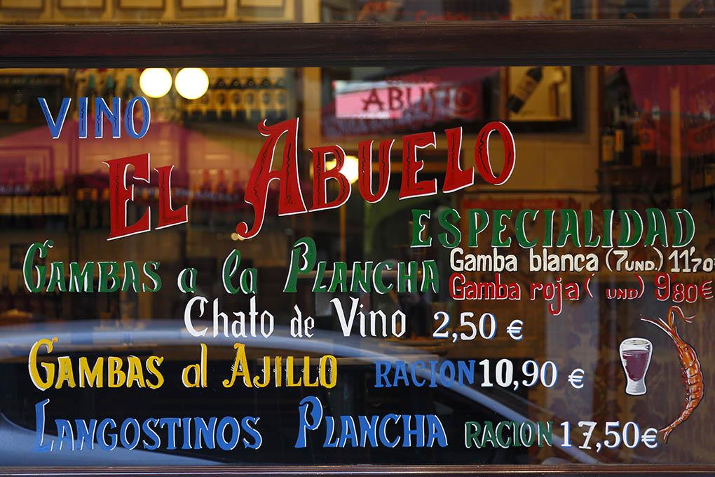 Escaparate de 'El Abuelo' (Madrid)