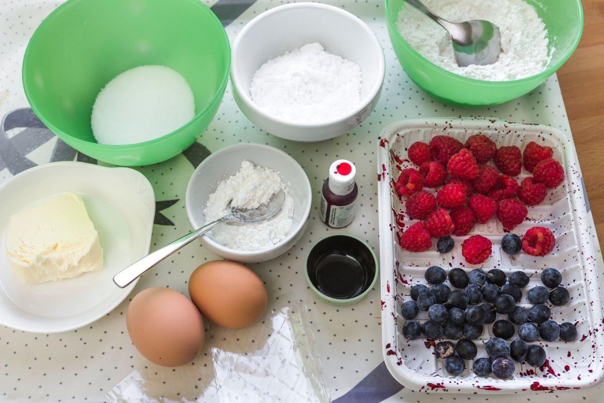 Ingredientes para la receta del brazo de gitano. Foto: David de Luis