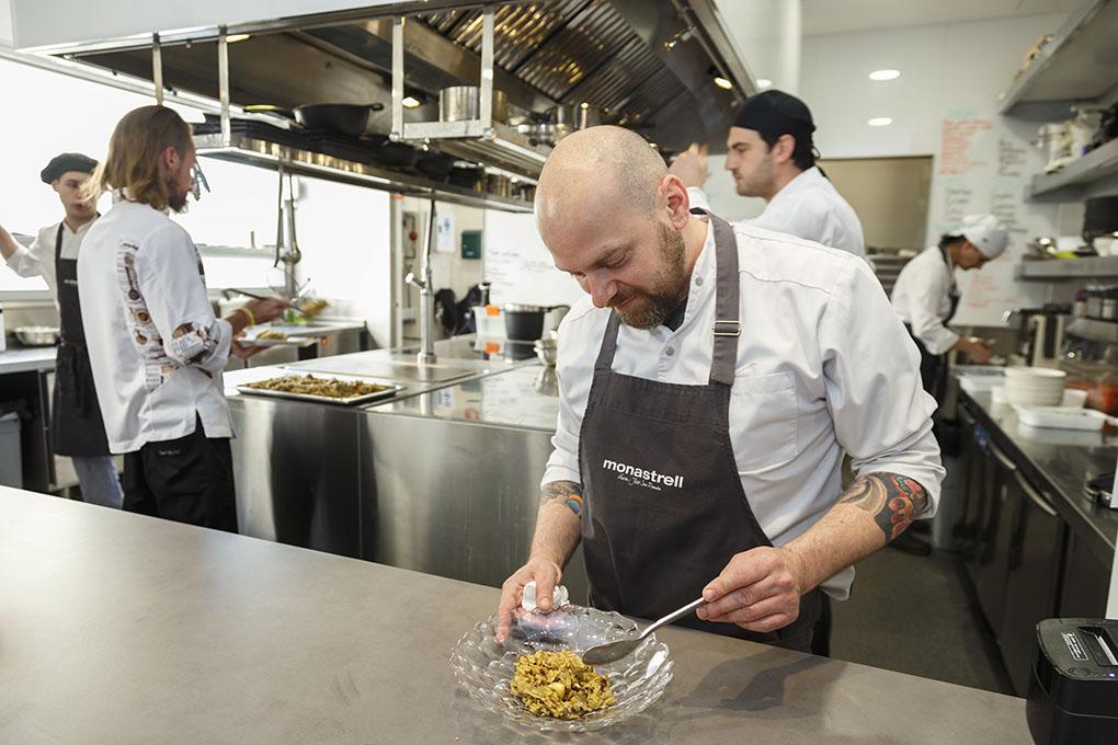 Restaurante Monastrell: Federico Pian, jefe de cocina. Foto: Pepe Olivares.