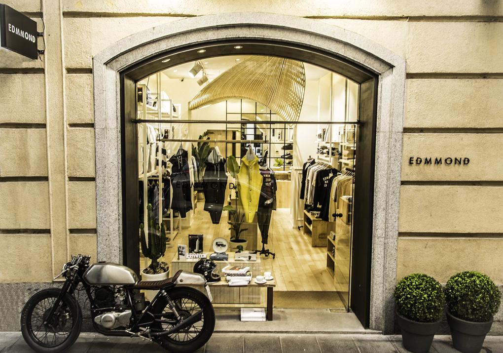 Fachada de la tienda Edmmond, en Madrid