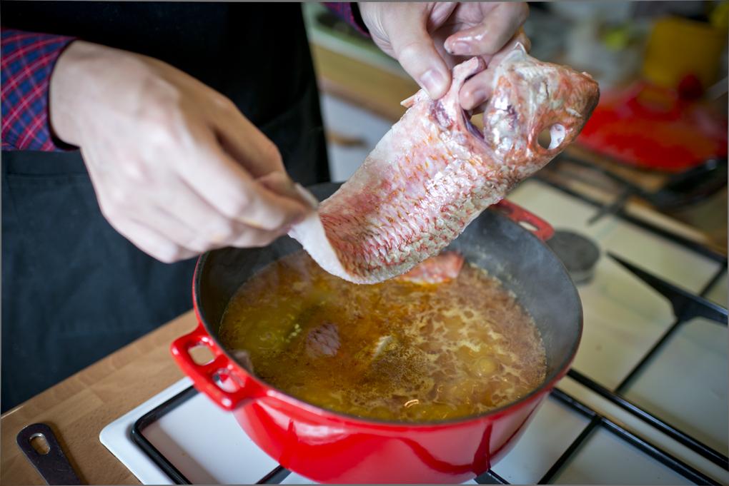 Hoy cocinan ellos: Arroz con salmonetes - salmonetes. Foto: Sofía Moro