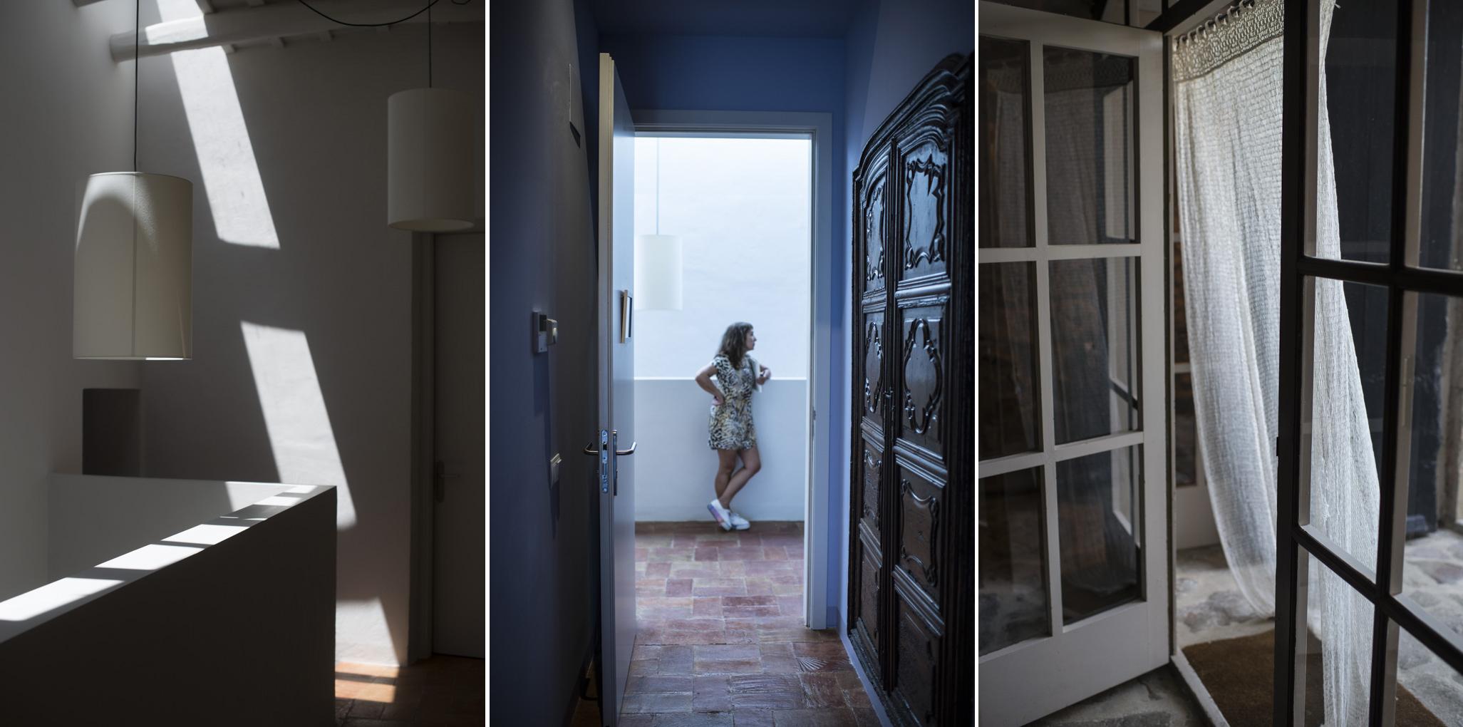 la luz se filtra por los rincones de la casa