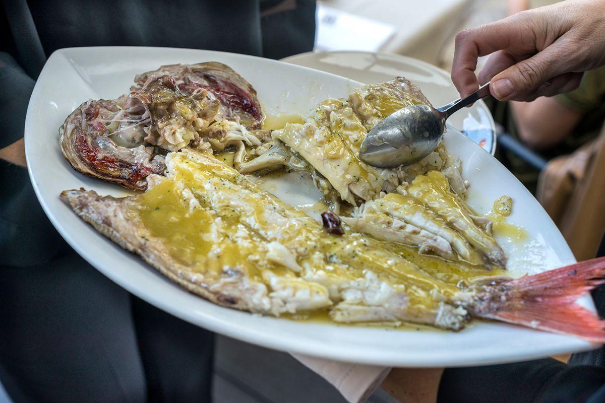 Plato de besugo del restaurante Asado Etxebarri. Foto: Alfredo Cáliz