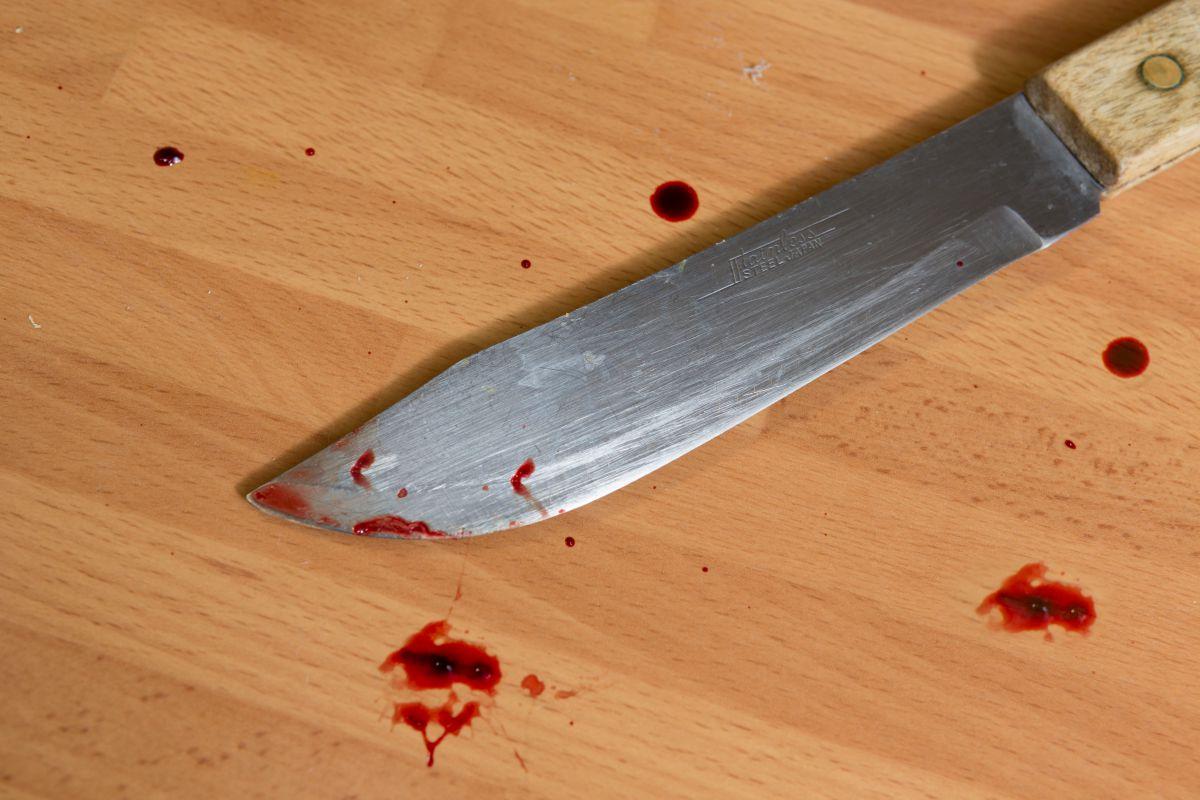 Cuchillo con sangre. Foto: David de Luis