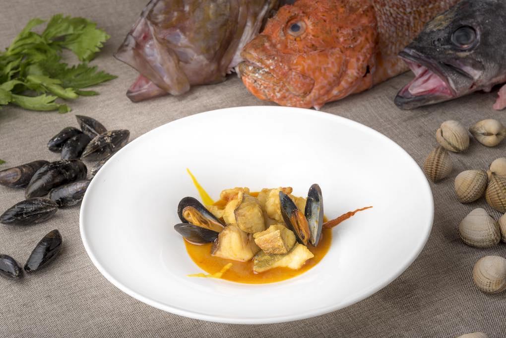 Pescado San Pedro, cabracho, rubio, mero y mejillones bouchot