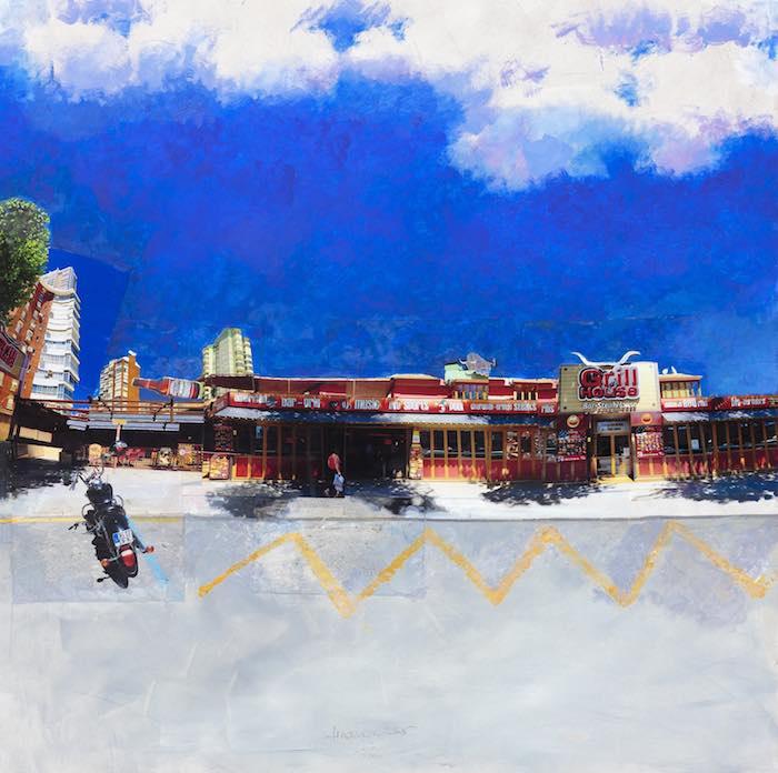 Obra de la exposición Gran Benidorm, de Óscar Tusquets. Foto: Turismo de Benidorm