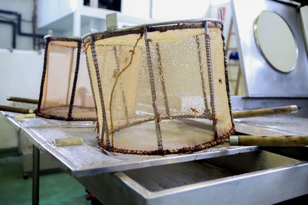 Las cestas para pescarlas. Foto: Bixigorri