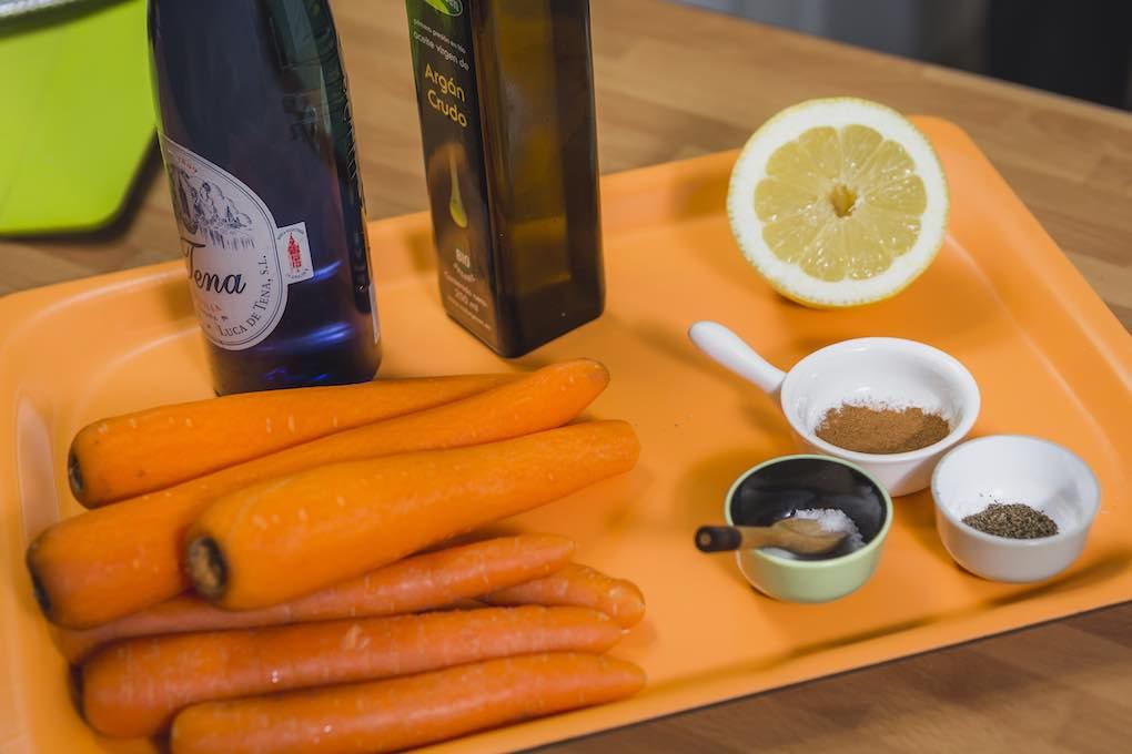 Ensalada de zanahoria ingredientes. Foto: David de Luis