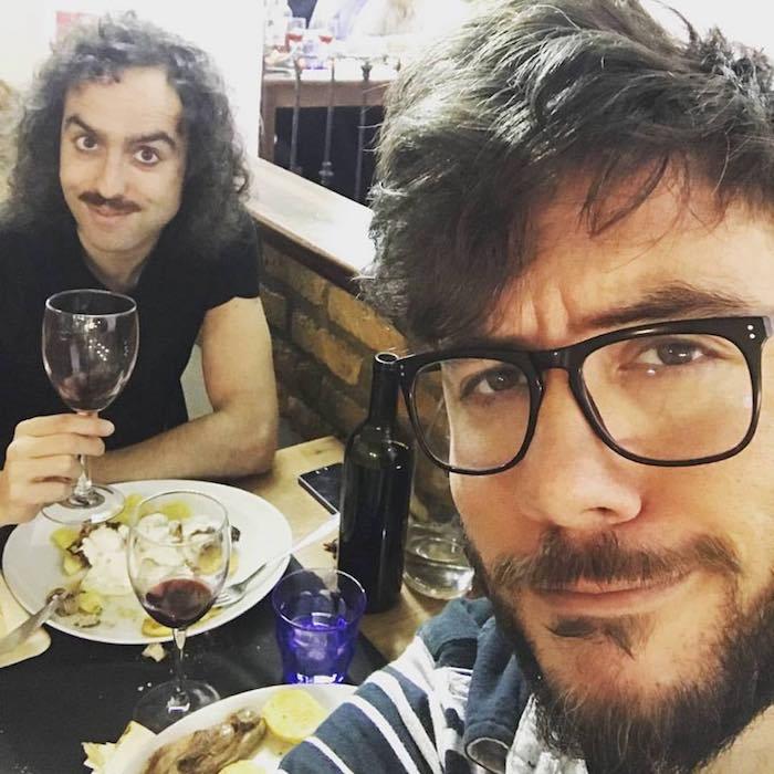 Selfie comiendo en Zaragoza. Foto: Antílopez