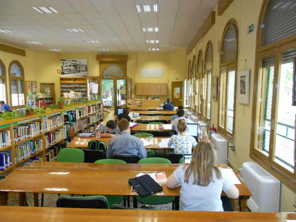 Salón de lectura de la Biblioteca Municipal del Salón de Granada. Foto cedida