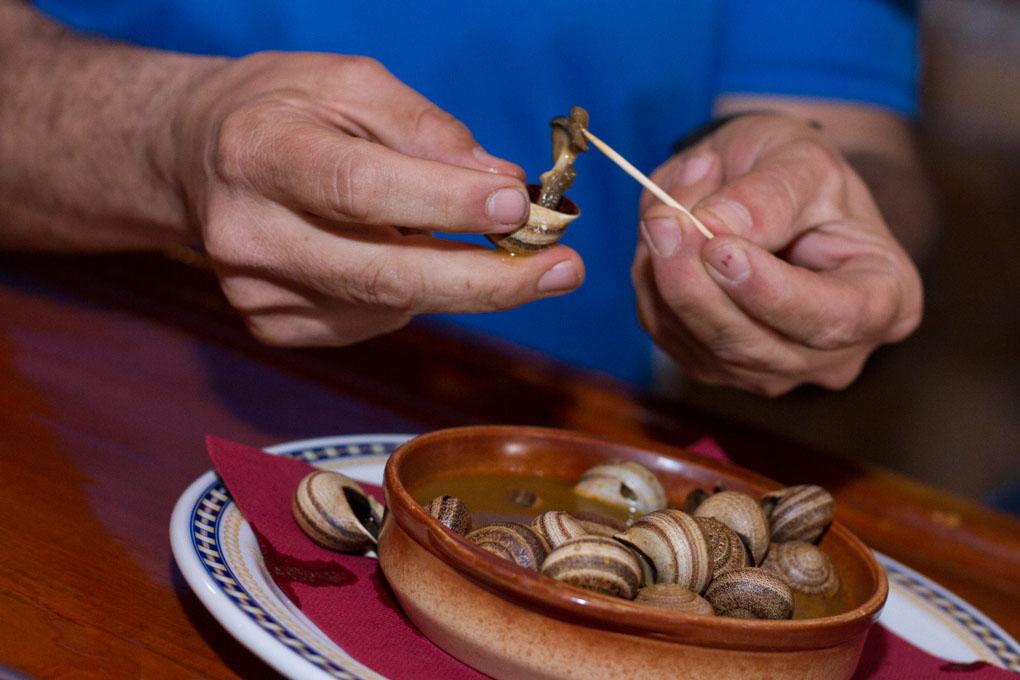 Plato de caracoles