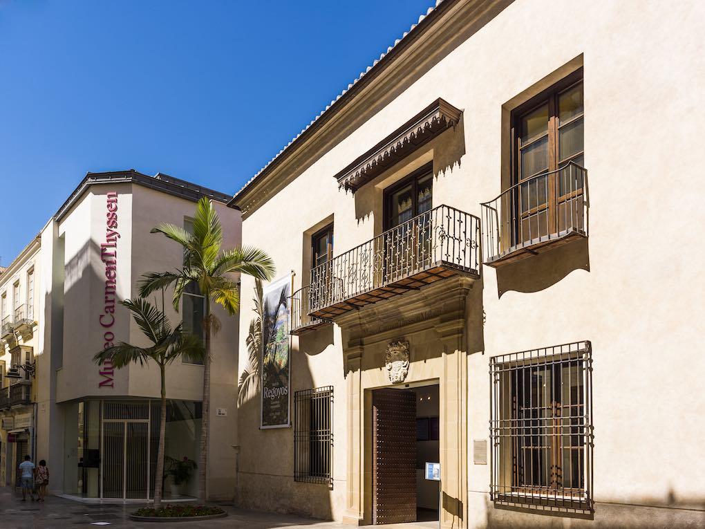 Fachada del Palacio de Villalón, actual sede del Museo Carmen Thyssen. Foto: Área de Turismo del Ayuntamiento de Málaga