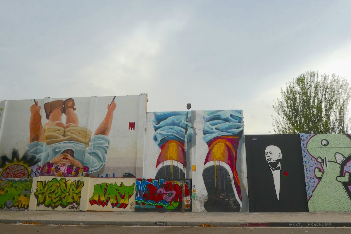 Mural J.Pujol en Poblenou. Graffiti Barcelona.