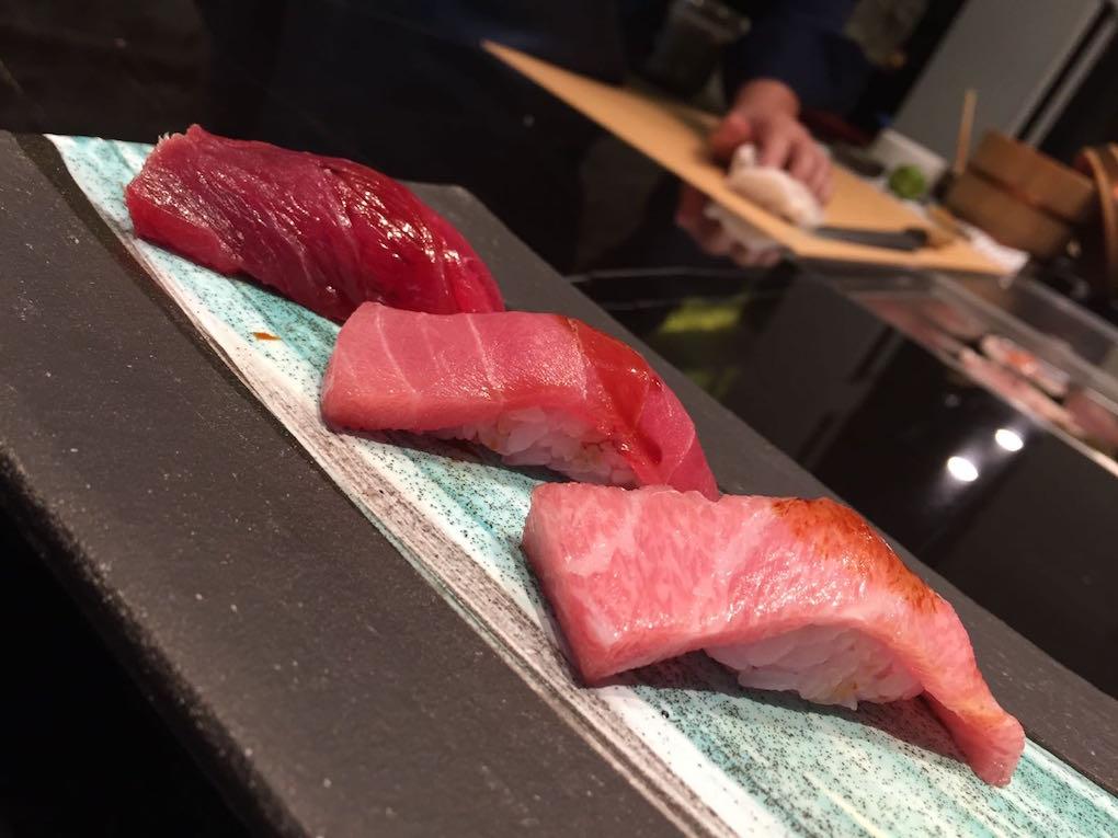 sushi de Mario Payán en su restaurante Kappo