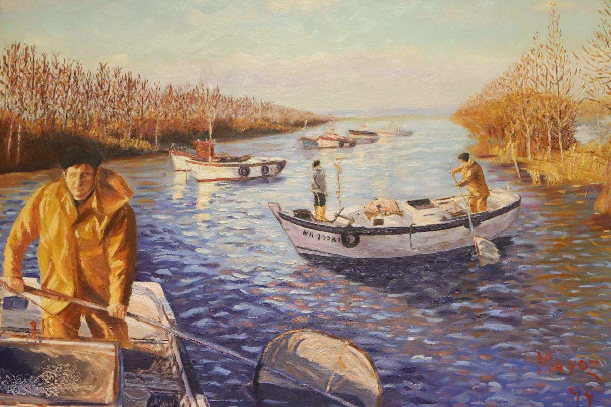 Una pintura de Angulas Mayoz. Foto: Bixigorri