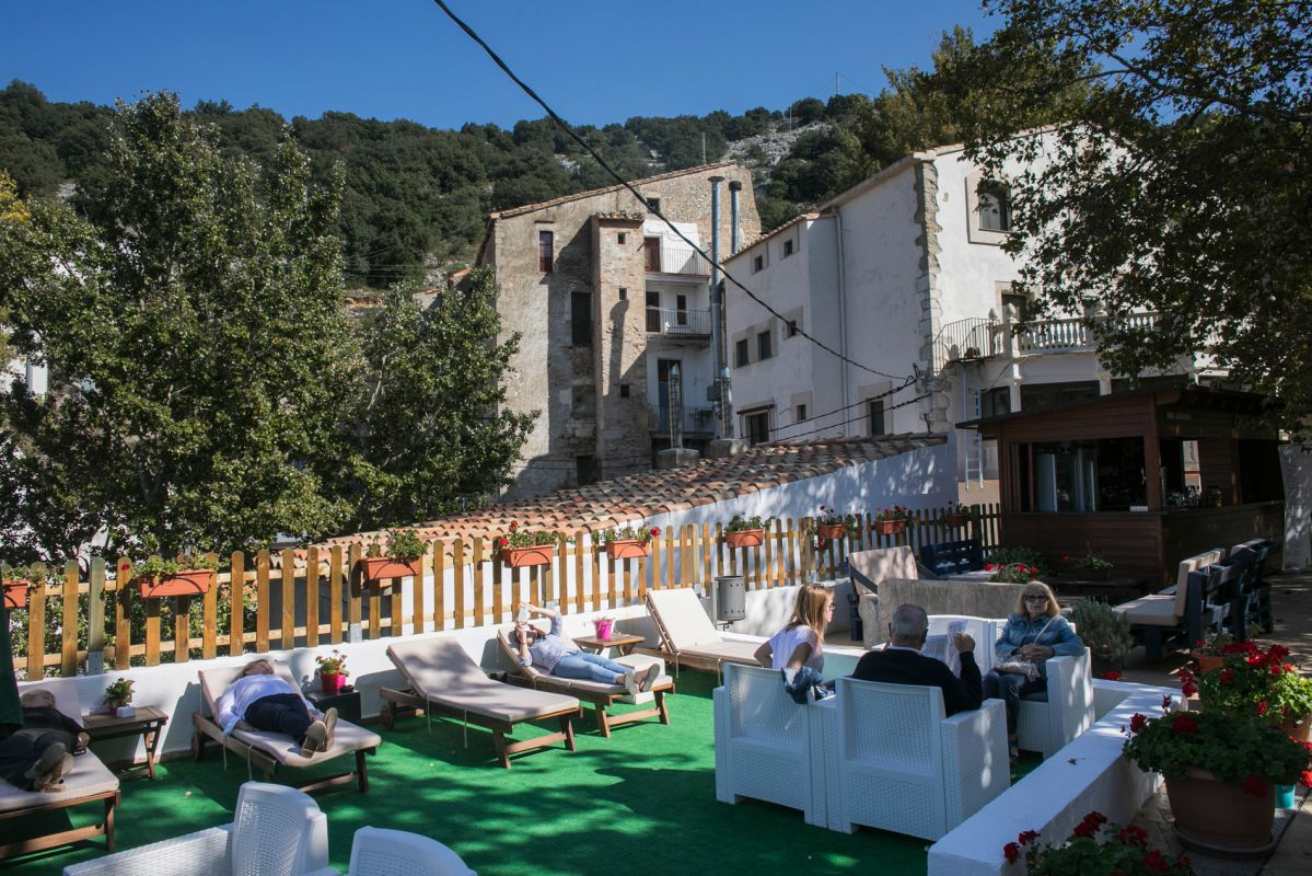 Terraza de la Casa de Banys. Foto: Eva Máñez