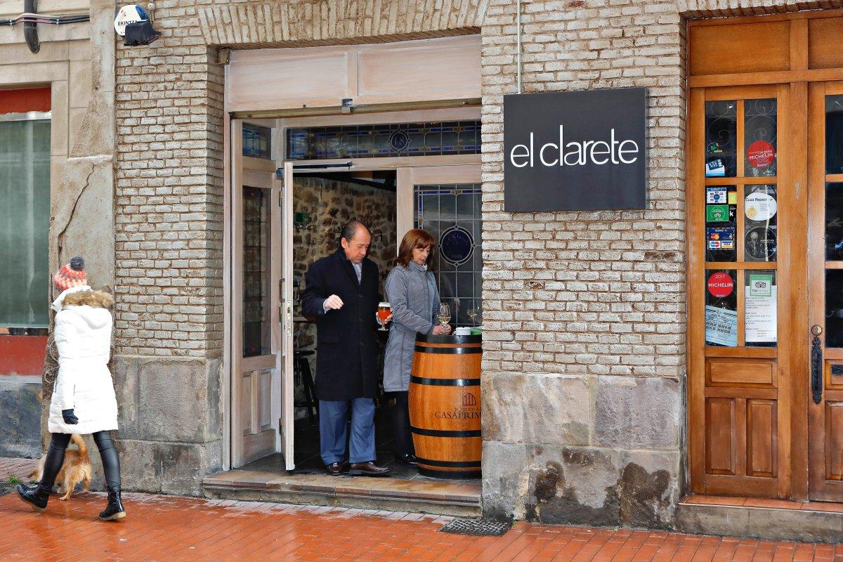 Restaurante El Clarete (Vitoria). Entrada. Foto: Roberto Ranero