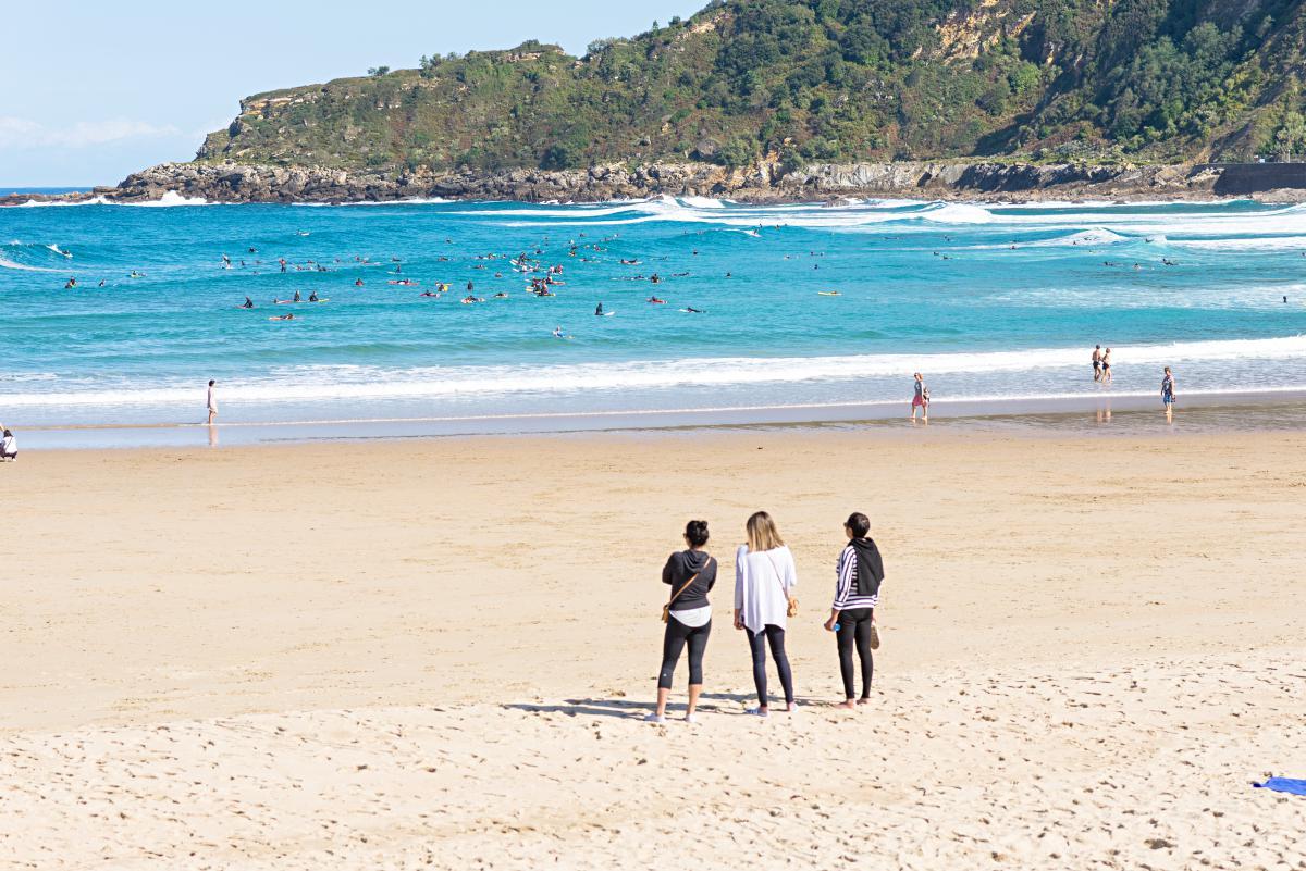 Playa Zurriola. Foto: Alfredo Merino