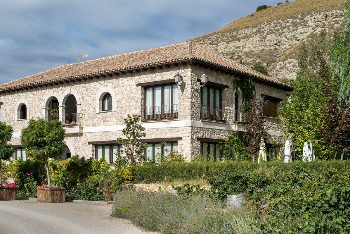 La casa en la finca de la huerta de Carabaña. Foto: Alfredo Cáliz
