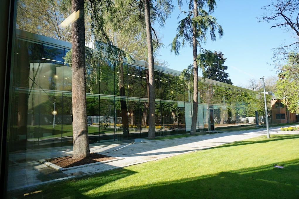 Biblioteca Municipal Eugenio Trías, ventanales, en MAdrid. Foto cedida