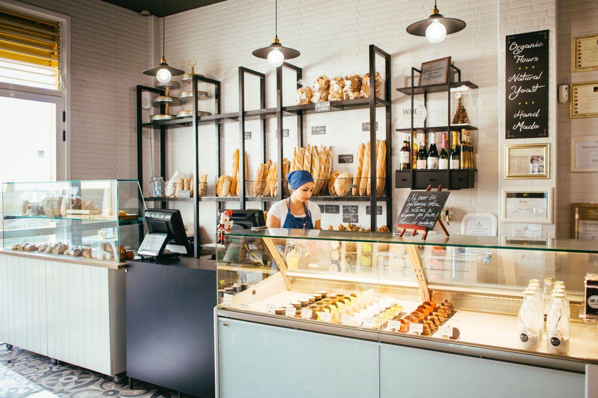 El mostrador con los gloriosos pasteles. Foto: Rocío Eslava