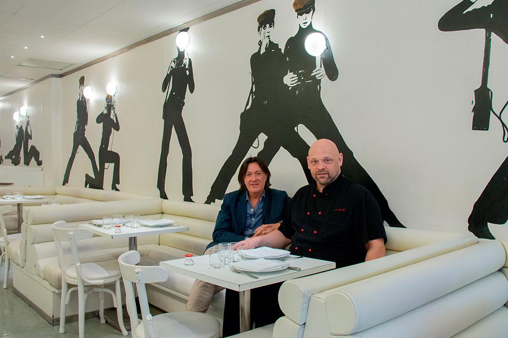Restaurante Flash Flash, Barcelona: Javier Hoyos, al mando del restaurante, y el chef Alex Swolfs. Foto: Zach C. George