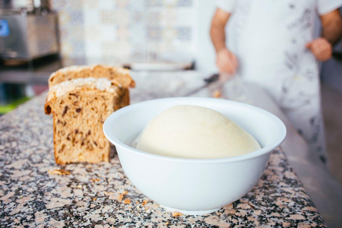 Masa madre para preparar el pan. Foto: Rocío Eslava