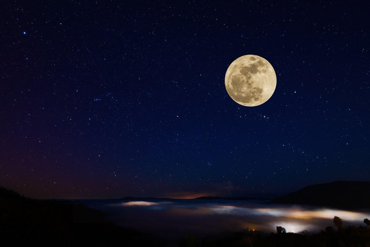 Luna llena. Foto: shutterstock