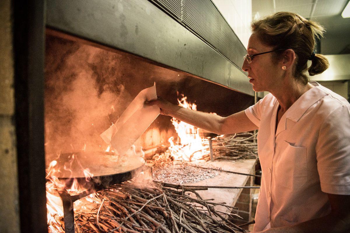 Josefa Navarro en los fuegos. Foto: Andrés Deltell