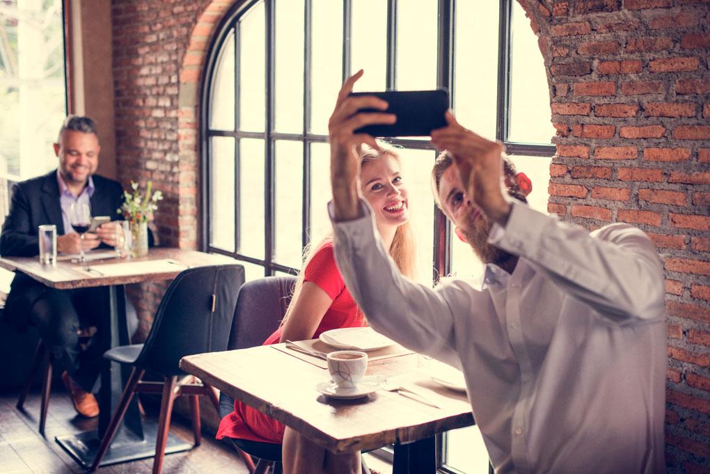 Selfie en el restaurante
