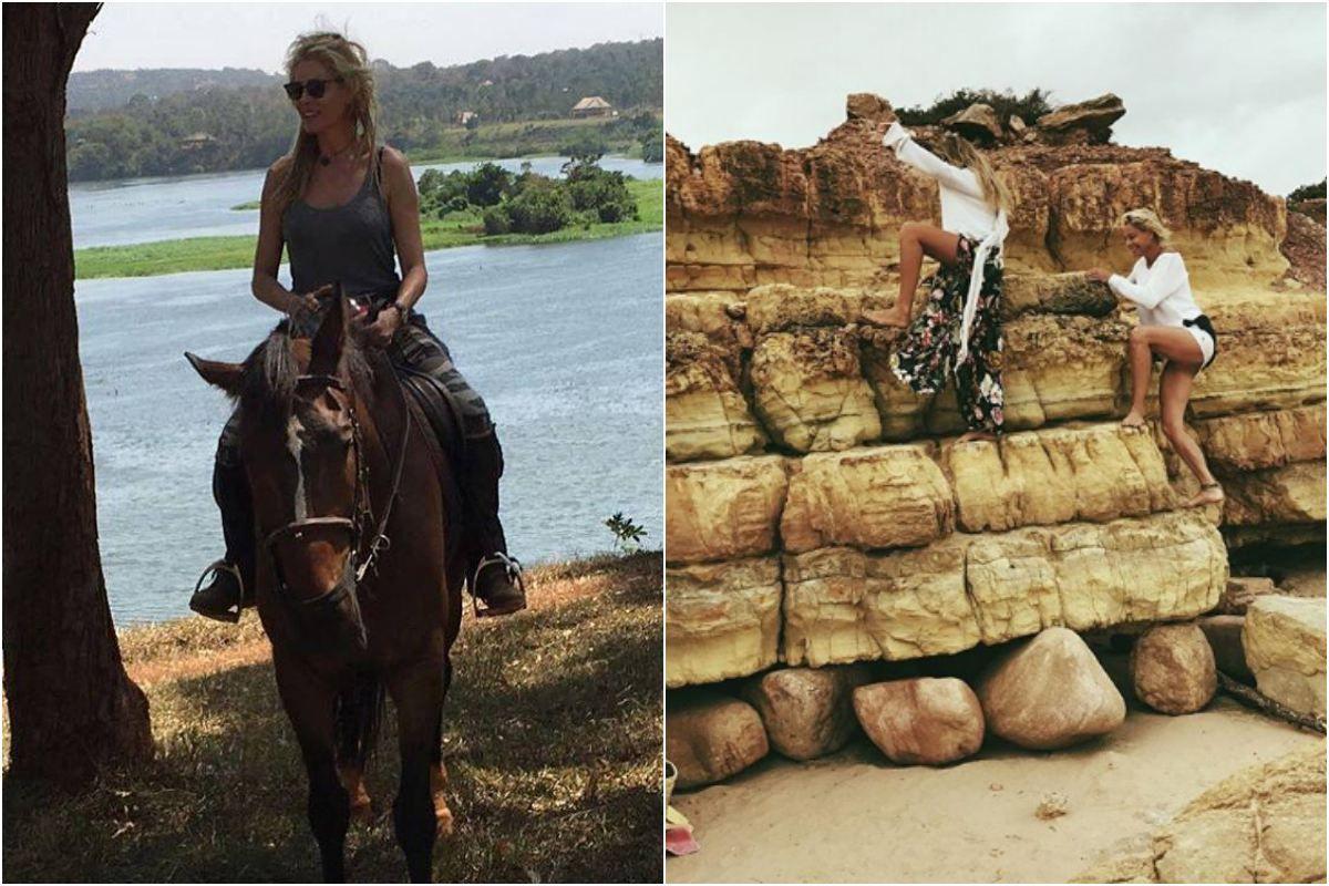 Belén Rueda de escapada por el campo. Foto: Facebook